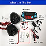 UTV ATV Bluetooth Amplifier Sound System Hand-free Speakers FM USB Audio System Stereo 2.5 Inch Speakers 12V Motorcycle Waterproof Audio FM Radio Stereo Speaker For iPhone/iPod/MP3 Skull ...