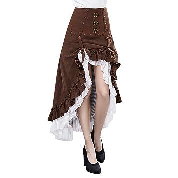 XC Falda Irregular Steampunk, Mujer Halloween Traje De Disfraces ...