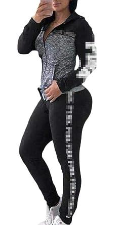 ShuangRun Conjunto de pantalón de chándal Ligero para Mujer de 2 ...