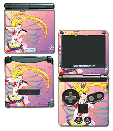 Jupiter Computer Cart - Sailor Moon Usagi Tsukino Schoolgirl Venus Jupiter Mercury Pluto Neptune Video Game Vinyl Decal Skin Sticker Cover for Nintendo GBA SP Gameboy Advance System