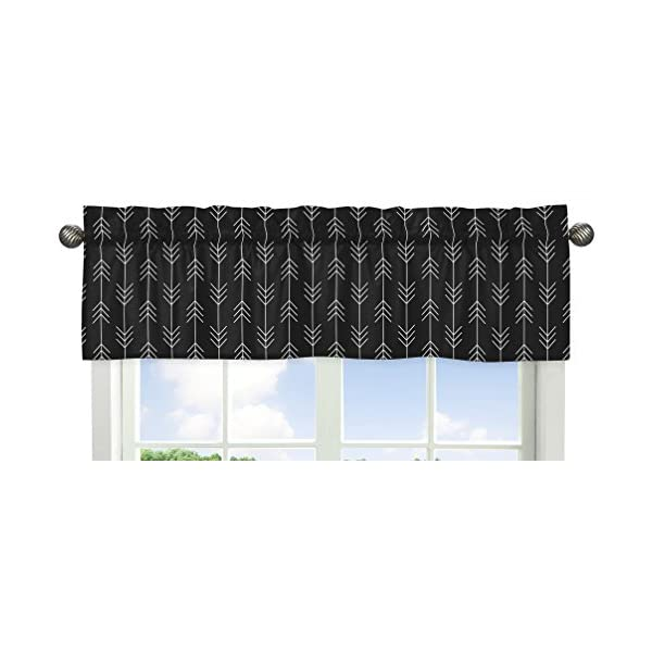 Sweet Jojo Designs Black and White Woodland Arrow Window Treatment Valance for Rustic Patch Collection