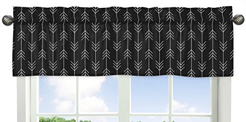 Black and White Woodland Arrow Window Treatment Valance for Rustic Patch Collection by Sweet Jojo Designs