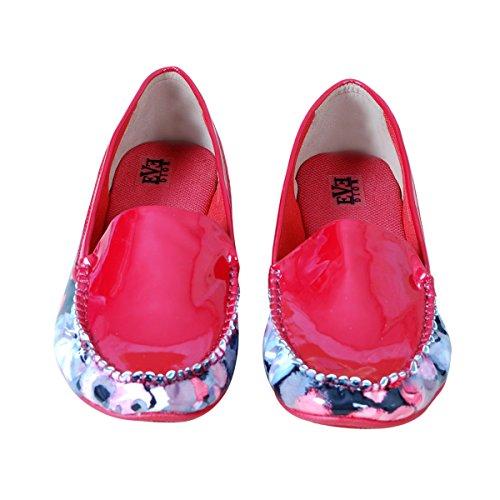 Mujeres Triveni Vientres Heel sintética Rojo