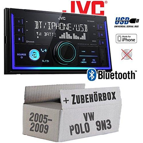 VW Polo 9N3 - Autoradio Radio JVC KW-X830BT - Bluetooth MP3 USB - Einbauzubehö r - Einbauset JUST SOUND best choice for caraudio VWPo9N3_KW-X830BT