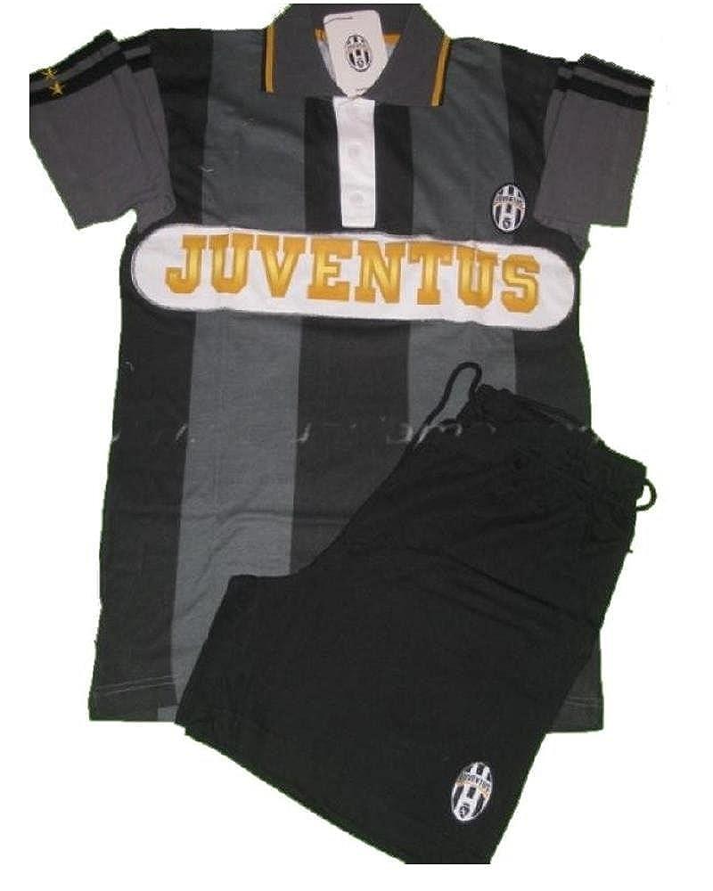 b712917061 Pigiama Juventus Fc Maglietta polo + pantaloncini, abbigliamento ufficiale  *04993 Planetex