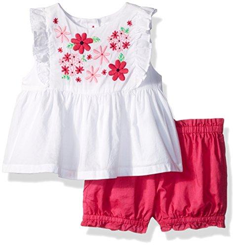 Gymboree Toddler Girls' Floral Print Set, White, 18-24 Mo ()