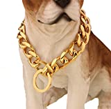 W&W Lifetime Custom Ultra Strong 19MM Slip Chain Dog Collar - for Pit Bull Mastiff Bulldog Big Breeds (23'' Collar)