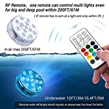 LOFTEK Submersible LED Lights with Remote 8