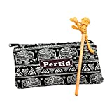 Perdit Crafts Style Striped Canvas Pen Bag Pen Holder Cosmetic Bag Pouch Bag for Women Teen Girls with Stylus And Pancil Made Eichhornia Kick The Nape of The Neck Boxing Doll Famous Handicrafts I
