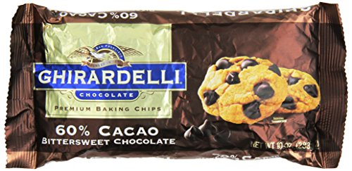 Ghirardelli Chocolate Baking Chips, Bittersweet Chocolate, 10 oz.,(Pack of 6)