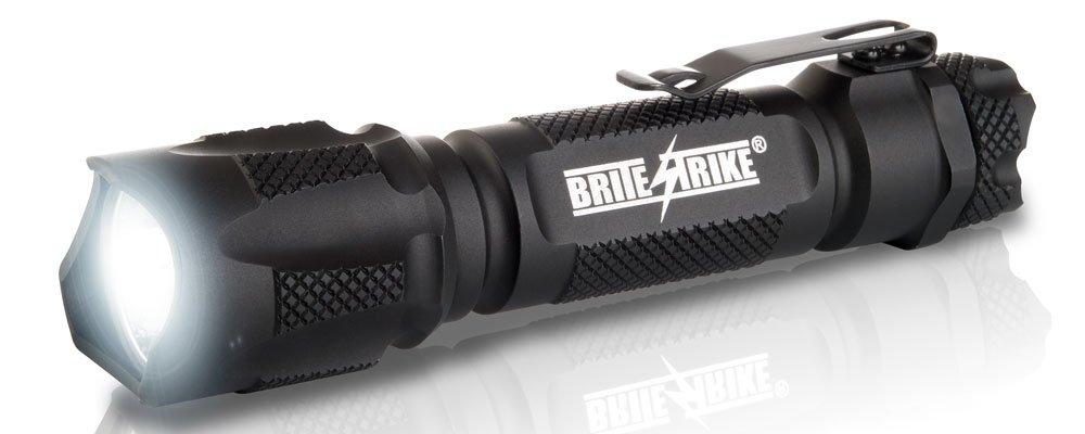 Brite Strike BD-198-HLS-2C Tactical Blue Dot Series 310-Lumen Hi Lo Strobe 2-Cell LED Flashlight