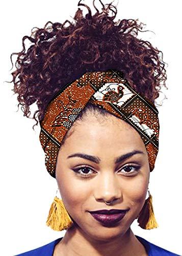 Ababalaya Women's Extra Long African Traditional Print Head Wrap Headband Tie 78×2 inch,388