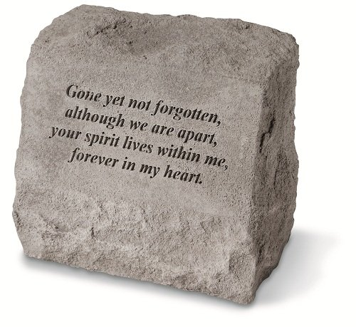 Kay Berry 93420 Gone Yet Not… (Headstone) Memorial Garden Stone, Multicolor