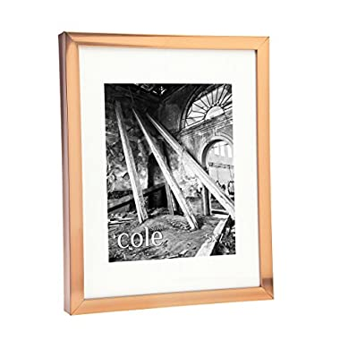 COPPER COLOR WALL PICTURE FRAME 8X10 WITH 5X7 MAT