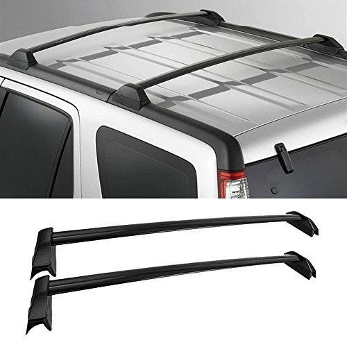 Beamtop 2 pcs Black Aluminum Roof Rack Cross Bars Crossbars Top Rail Cargo Racks for 2002-2006 Honda CRV with Existing Side Rails (2004 Roof)