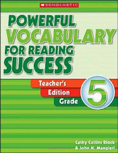 Powerful Vocabulary for Reading Success, Grade 5, Teacher's (Scholastic Powerful Vocabulary)