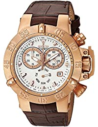 Invicta Women's 'Gabrielle Union' Quartz Stainless Steel and Leather Casual Watch, Color:Brown (Model: 23174)