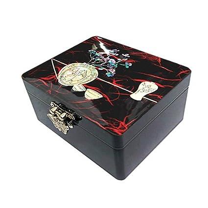 Inlay Madre de Pearl joyas caja de almacenamiento Caja de madera caja con forma de tesoro