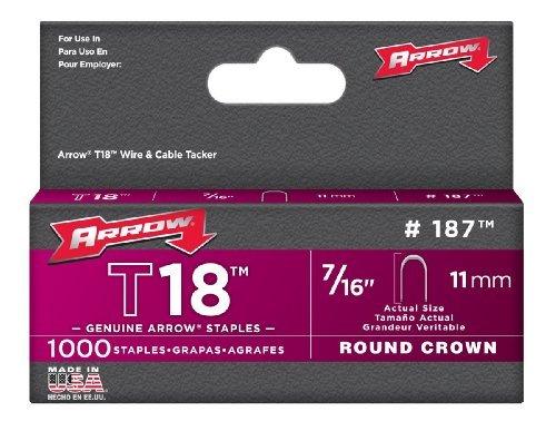 Arrow Fastener 187 Genuine T18 Staples,