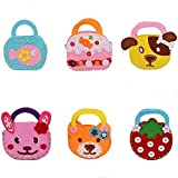 Generic Sewing Kit For Kids Craft Set 6 Pcs Kids Sewing Projects Fabric DIY Crafts Purse