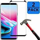 Galaxy S9 plus Screen Protector [2-Pack-Black], OLINKIT Anti-Scratch High Definition Bubble-Free [Case-Friendly] Screen Protector for Galaxy S9 plus HD Clear Film
