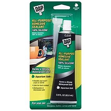Dap 00688 All-Purpose Adhesive Sealant, 100% Silicone, 2 8-Ounce Tube