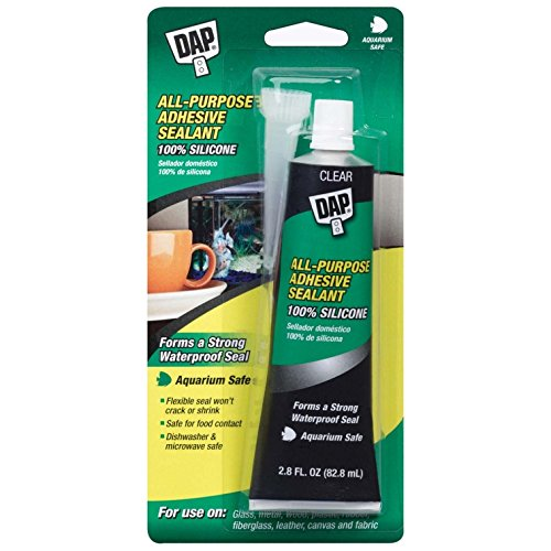 Dap 00688 All-Purpose Adhesive Sealant, 100% Silicone, 2.8-Ounce Tube ()
