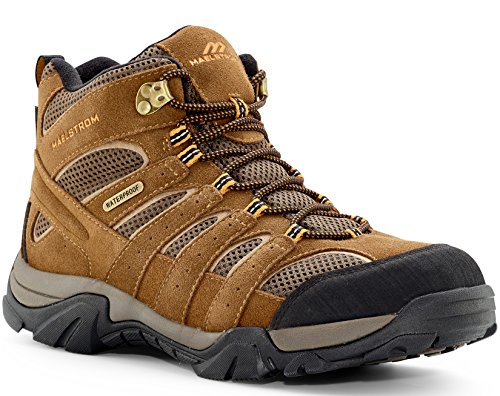 Maelstrom Men's Hiking Boots for Outdoors Backpacking Trekking Hunting - Stylish Comfortable Lightweight Waterproof Boots - 1 Year Manufacturer's Warranty,#5150, Brown, Waterproof,10.5 D(M) (Lightweight Hiker Boots)
