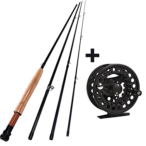 Sougayilang saltwater freshwater fly fishing rod with reel for Best fishing rod and reel combo for beginners