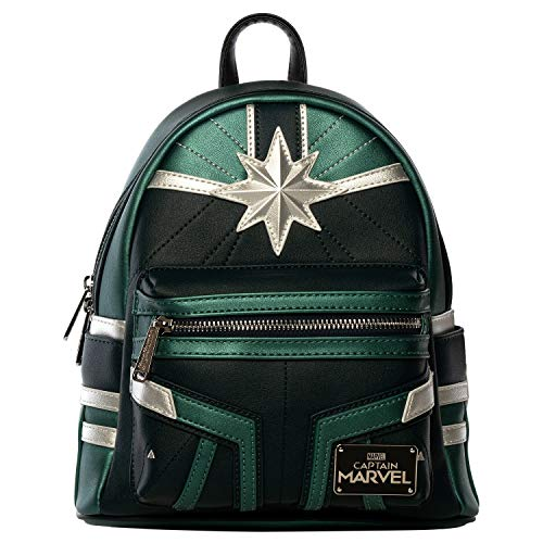 597e6ca582e Loungefly x Captain Marvel Green Training Suit Mini Backpack (One Size