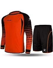 Kelme futbol portero de manga larga jersey de futbol Set traje  (Orange Black  74f87b91d6755