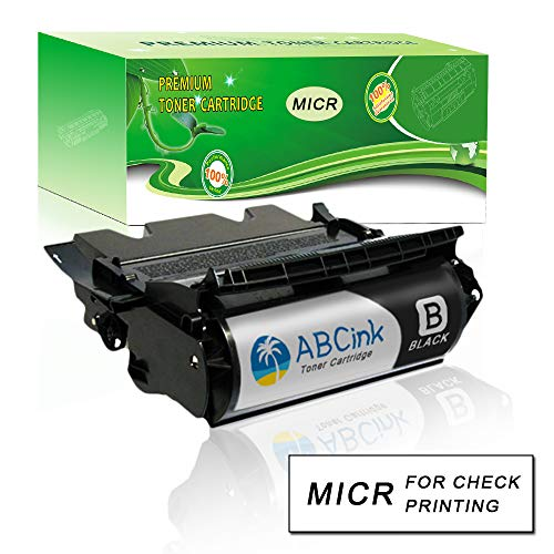 ABCink 12A7365 Compatible MICR High Yield Toner Cartridge Compatible for Lexmark Optra 12A7365 Printers 1 Pack(96,000 Page-Yield, Black)