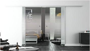 Correderas de cristal de la puerta para interiores con cierre-sistema LEVIDOR - De ancho de cristal: