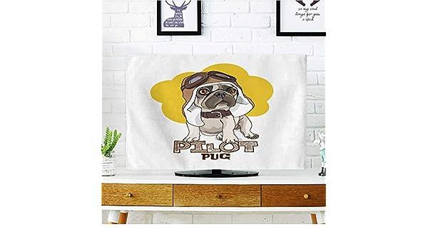 Analisahome Proteja su TV Cachorro Princesa con Aislamiento Aislado Sobre Fondo Blanco Proteger su TV W19 x H30 Pulgadas/TV 32 Pulgadas: Amazon.es: Hogar