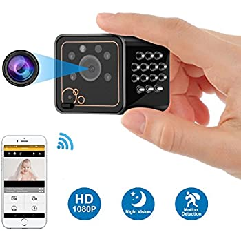 Hidden Camera - WiFi Spy Camera - Mini IP Security Came - HD 1080P Wireless Nanny Cameras for Home - Remote View for iPhone Android - Motion Detection Alarm ...