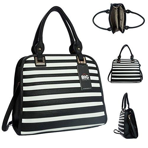 Shop Tan Bolsa Big White Handbag Mujer amp; n0a5wOOqTx