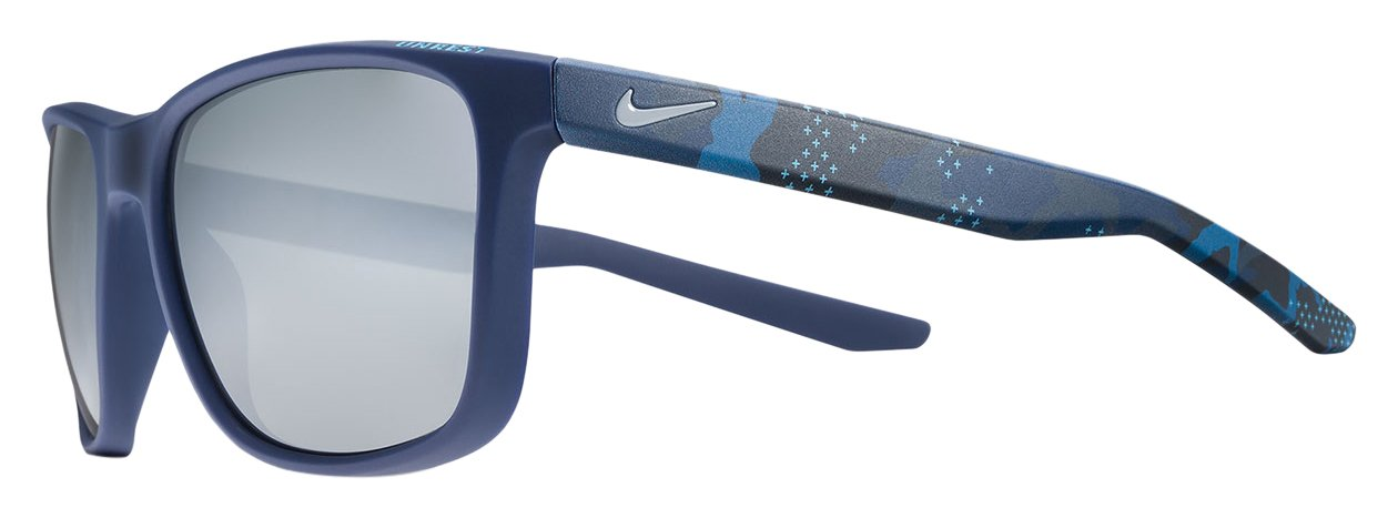 Nike EV0922-400 Unrest SE Sunglasses (Frame Grey/Silver Flash Lens), Matte Midnight Navy/Midnight Navy Camo