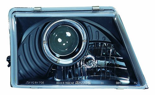 IPCW CWS-506B2 Clear Projector Headlight with Rings and Black Housing - (Ford Ranger Ipcw Headlights)