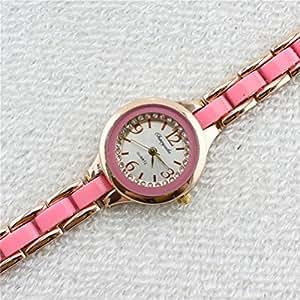 U-beauty Fashion Women Round Face Bracelet Wrist Watch Quartz Watches Ladies Wrist Watch Gift (Pink)