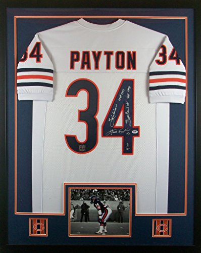 Walter Payton Framed Jersey Signed PSA/DNA COA Autographed Chicago (Walter Payton Autographed Jersey)