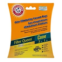 Arm & Hammer Vacuum Bags Filter Queen Cone (3) bags + (1) filter Filter Queen Canister, Majestic
