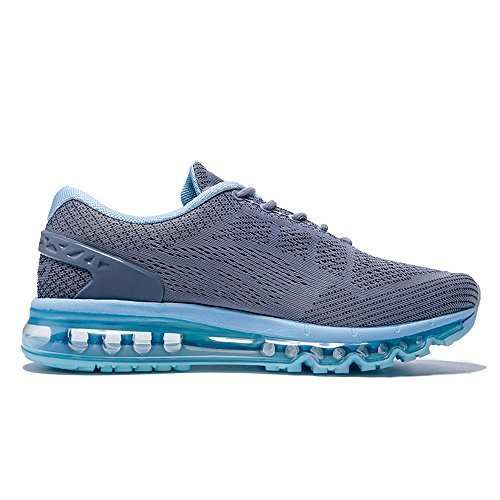 Unisex Sneakers Air Shoes Womens Blue Damping Gym Mens Running Adult Cushion Breathable Onemix Grey Knit U7qXIExw
