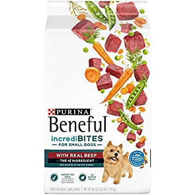 Purina Beneful Small Breed Dry Dog Food, IncrediBites With Real Beef - (4) 3.5 lb. Bags