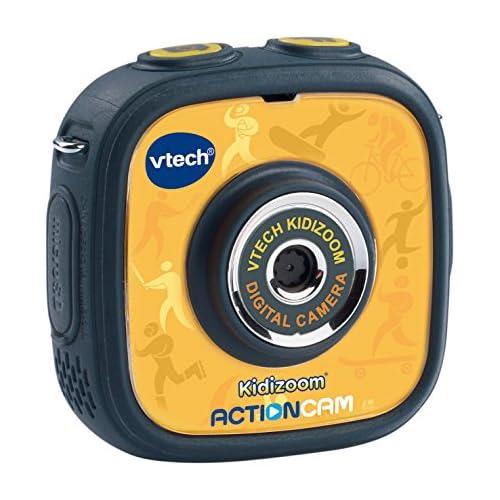 chollos oferta descuentos barato VTech Kidizoom ActionCam Cámara de Fotos y vídeo para niños Color Negro Amarillo versión Alemana