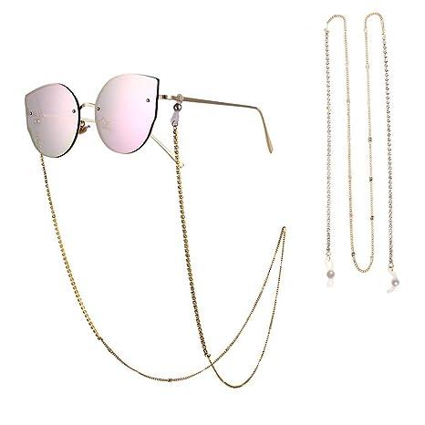FOONEE Cadenas de Gafas de Oro, Gafas de Sol Correa Gafas de ...