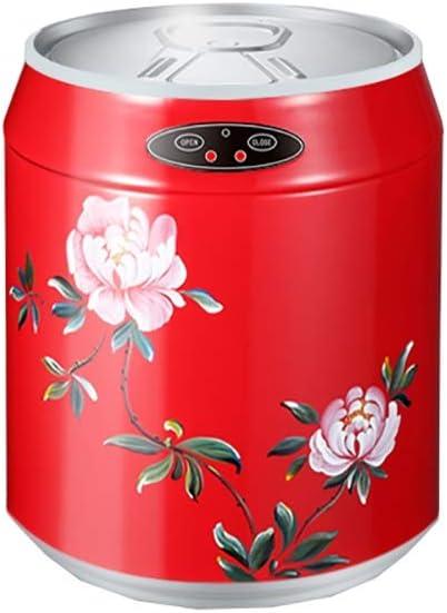 BRL-ゴミ箱 フタ付きゴミ箱 ゴミ箱は手描きのヨーロッパスタイルのコーラ缶インテリジェント自動誘導ホーム寝室オフィス ペダル式ゴミ箱 フタなし (Color : 6L)