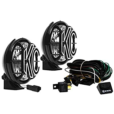Image of Bulbs KC HiLiTES 451 Apollo Pro 5' 55w Driving Light with Integrated Stone Guard - Pair Pack System