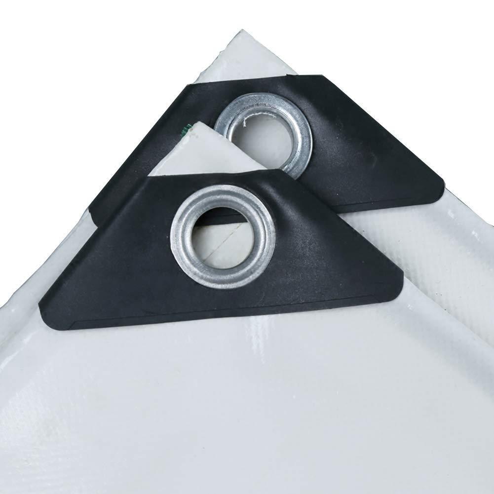 防水シートのトレーラーカバーキャンプの防水シートの頑丈で厚い材料防水屋内および屋外の白530G / Mの² FENGMIMG (色 : 白, サイズ さいず : 4x6M) 4x6M 白 B07QRT8858