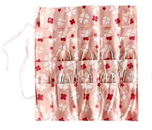 24-inch Aluminum Circular Knitting Needles Set of 8 with Three Bonus by KnitPal I Durable & Snag-Free Metal Circle Needles Kit | Great Knitters Gift (US Sizes 8,9,10,10.5,11,13,15,17) (24 Inches)