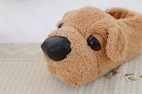 Womens Dog Non-slip Indoor Warm Fleece Slippers,Lovely Cartoon Winter Soft Cozy Booties Fuzzy Plush Mules Home Bedroom Dog